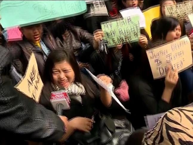 Students protest over Arunachal youth's death