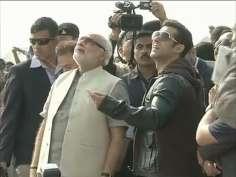 Salman Khan flies kite with Narendra Modi