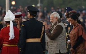 Beating Retreat ceremony takes place at Delhi's Vijay Chowk in presence of Kovind, Modi