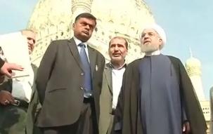 Iran President Hassan Rouhani visits Qutub Shahi Tombs in Hyderabad