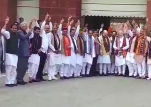 PM Modi grandly welcomed at the second part of Parliament's Budget Session