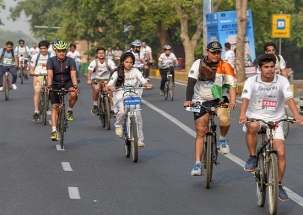 World Bicycle Day: Vice President Venkaiah Naidu flags off Bicycle Rally in Delhi